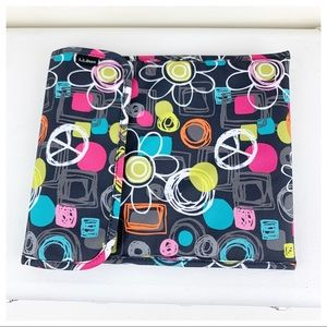 LL Bean Colorful Cushioned iPad/eReader Case NWOT.